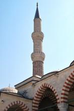 Üç Şerefeli Mosque - one of the minarets