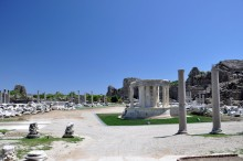 The temple of Tyche in Side