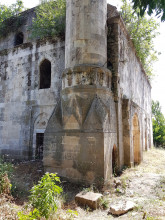 Evliya Kasim Pasha Mosque in Edirne - the base of the minaret