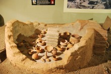 Roman oven reconstruction in the Archaeological and Ethnographic Museum in Edirne