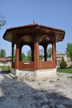 Wooden ablution fountain of Gazi Mihal Mosque in Edirne