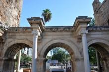 Internal façade of Hadrian's Gate in Antalya