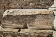 Library of Celsus - an inscription