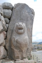 The left-side lion - it has been reconstructed in modern times