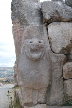 The right-side lion - the original Hittite sculpture