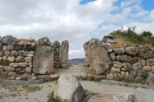 Lion Gate in Hattusa - seen from the city