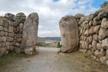 The interior of the Lion Gate in Hattusa