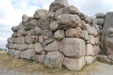 The fragment of the fortification wall of Hattusa