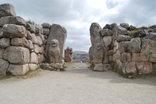 The Lion Gate seen from the outside of the city of Hattusa