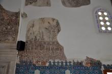 Frescoes in the interior of Muradiye Mosque in Edirne