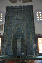 Huge mihrab of Muradiye Mosque in Edirne