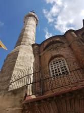 The minaret of Bodrum Mosque
