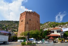 Red Tower in Alanya