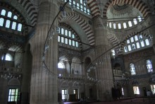 Selimiye Mosque in Edirne - the interior