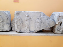 Reliefs from the Temple of Dionysos, Izmir Museum of History and Art, July 2019