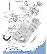 Location of the Hippodrome in Constantinople, from Wikipedia, Public Domain