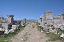 Cardo Maximus street in Antioch of Pisidia