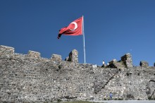 Ardahan Fortress - Turkish Flag over the Walls