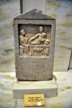 Marble tombstone from Cyzicus in Bandirma Museum, 1st or 2nd century BC