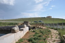 Eflatun Pınar - a path and brigdes for visitors