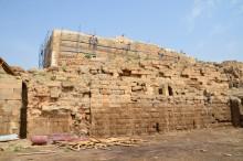 Harran Castle during reconstruction (2013)