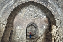 Hoşap Castle - Interior of Gate Tower