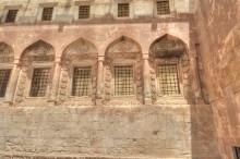 Ishak Pasha Palace - the inner courtyard and the windows of selamlik section