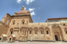 Ishak Pasha Palace - the mosque, the mausoleum, and the gate to the selamlik section