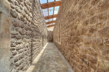 Ishak Pasha Palace - a corridor with modern roofing