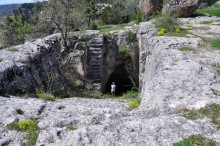 Huge water cisterns in Yazılıkaya