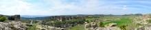 Panoramic view from the Acropolis of Yazılıkaya