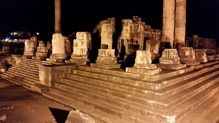Temple of Apollo in Didyma at night